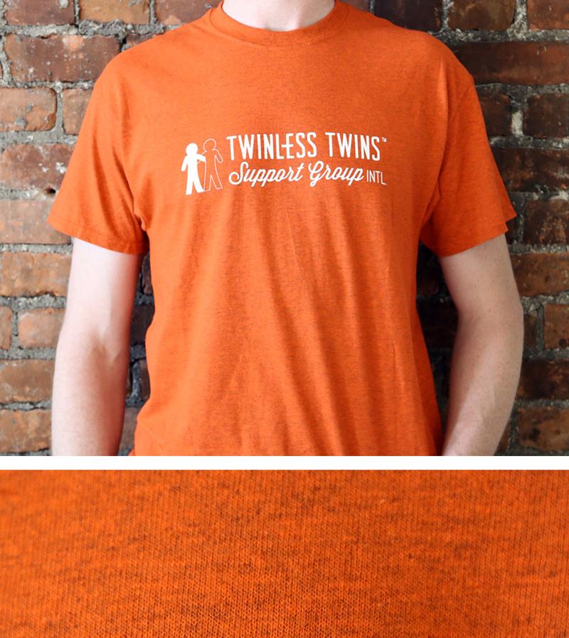 orange tshirt with white ttsgi logo